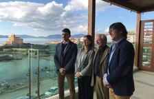Jordi Rius, secretari de la DO Terra Alta; Meritxell Serret, consellera d'Agricultura; Salvador Puig, director d'INCAVI i Joan Arrufí, President DO Terra Alta.