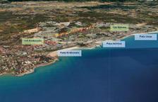 Fotomontaje que aporta una vista aérea del espacio donde está previsto que se construya.