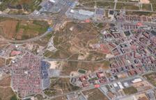 Punto donde está previsto construir la tienda Ikea y el nuevo barrio, situado entre Campclar y Bonavista.