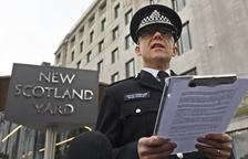 El Jefe de la unidad antiterrorista de la Policía de Londres, Mark Rowley, durante su comparecencia ante los medios de comunicación en la Scotland Yard.