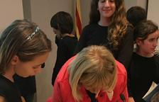Núria Freixa presenta 'Versos a Galet' a l'escola de pràctiques de Tarragona
