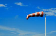 Imatge d'arxiu d'una mànega indicativa de vent.