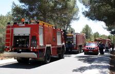 Un incendio forestal en Tivissa quema casi media hectárea de vegetación
