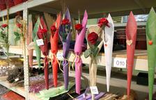 Un Sant Jordi 'largo' para la venta de rosas