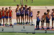 Els benjamins del Club Atletisme Tarragona, campions de Catalunya de relleus