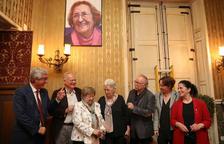 El retrat de Montserrat Abelló ja forma part del Saló dels Tarragonins Il·lustres.