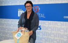 La Marta Gispert recull el premi de la cistella del Diari Més