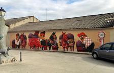Un mural celebra el centenari de la Vinícola del Priorat