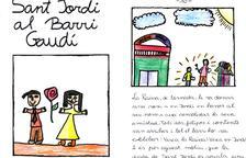 Lectura del conte «Sant Jordi al Barri Gaudí», escrit i il·lustrat pels infants del Centre Obert Mestral