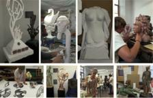 La Sala Portal del Pardo acoge la exposición de los trabajos de los alumnos del Aula de Escultura de Recerca Fenosiana