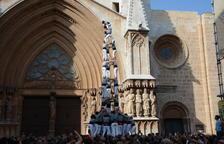 Els Castellers de Vilafranca es queden sense poder completar el 4de9sf al Pla de la Seu