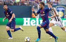 Messi i Neymar durant el partit del passat cap de setmana contra la Joventus