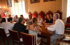 Imagen de la reunión extraordinaria y urgente realizada por la Junta de Portavoces en el Ayuntamiento de Tarragona.