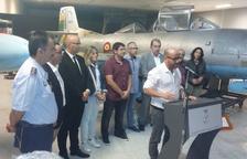 Un moment de la inauguració, dissabte, del centre, a càrrec deldirector del Memorial Democràtic de la Generalitat, Plàcid Garcia-Planas.
