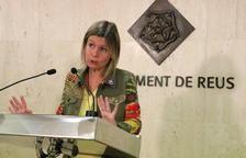 Pla mig de la regidora de Salut de l'Ajuntament de Reus, Noemí Llauradó, en roda de premsa, el 20 de setembre del 2017