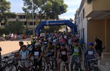 Imatge de la Pedalada Popular de Cunit, en la qual enguany hi van participar 205 persones.