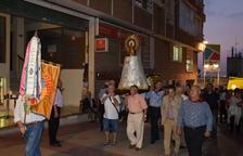 Los aragoneses de Tarragona trasladan a la Virgen del Pilar hasta la Catedral