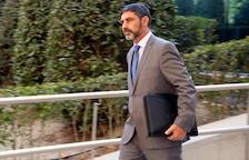 Imatge de major Trapero sortint de l'Audiència Nacional el 16 d'octubre.