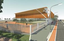 Imatge virtual del poliesportiu lleuger tal i com el preveia el projecte presentat el 2011.