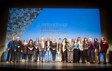 Pla obert dels premiats a la dotzena edició del 'Memorimage' de Reus. Imatge de l'11 de novembre de 2017