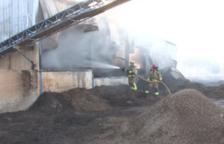 L'incendi ha mobilitzat nou dotacions de bombers.