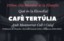 'Què és la filosofia?', a càrrec de Montserrat Coll al Cafè La Cantonada