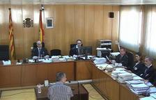 Captura de pantalla de l'acusat, Ramon Franch, responent a les preguntes del seu advocat en el judici de l'Audiència de Tarragona. Imatge del 16 de novembre del 2017
