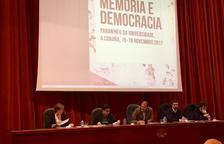 Begoña Floria, durant la seva intervenció a les jornades 'Memoria e democracia'.