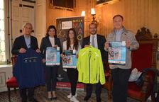 Josep Bertran, Elisa Vedrina, la filla de Negueruela i representants d'empreses patrocinadores.