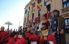 Els Veguers de Montblanc actuen en una trobada de gegants a la Festa Major de Lloret de Mar