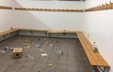 Destrossen el vestidor després del Reus B-Granollers