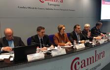 Instante de la presentación de los resultados de la Cámara de Tarragona, celebrada en la sede de la entidad.