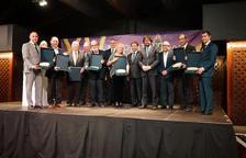 Imagen de familia de todos los premiados en la gala celebrada este miércoles en el restaurante La Boella.