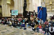 Centenares de alumnos de las escuelas de Tarragona en el acto de los Sembradores de Estrellas