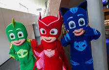 Els PJ Masks eclipsen l'arribada dels Patges Reials a la Pobla de Mafumet