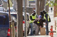 Material recollit durant una de les entrades que la policia va dur a terme a Valls, a l'abril del 2015.