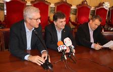 Josep Fèlix Ballesteros, Josep Maria Andreu y Juanjo Rovira, durante la presentación de LaLiga Genuine.
