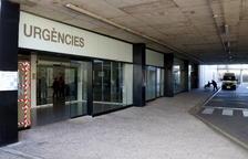 Pla general de l'accés a l'àrea d'Urgències de l'Hospital Sant Joan de Reus. Imatge del 18 de gener del 2018