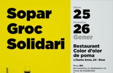 Imatge del cartell del sopar groc solidari que se celebrarà a Reus.