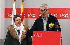 El portaveu del grup del PSC, Andreu Martín, a l'Ajuntament de Reus amb la regido