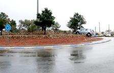 El accidente ha tenido lugar en la rotonda de la T-340 donde confluye la carretera de Freginals.