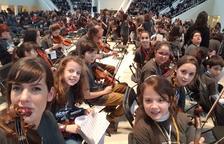 Alumnes de l'Escola de Música de Constantí participen a un gran Trobada musical a Barcelona