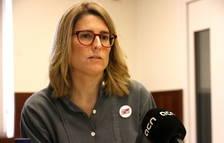 La portaveu de JxCat, Elsa Artadi, durant l'entrevista amb l'ACN, al Parlament de Catalunya