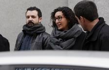 La secretària general d'ERC, Marta Rovira, a la seva arribada al Tribunal Suprem.
