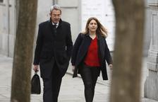 La coordinadora general del PDeCAT, Marta Pascal, arribant al Tribunal Suprem.
