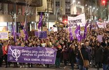 Manifestación histórica a favor de los derechos de las mujeres en Tarragona