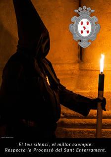 La Sang engega una campanya per reclamar silenci i respecte durant la processó de Divendres Sant