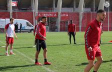 Javi Márquez, en el centro de la imagen, entrenando.