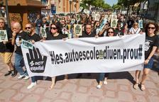 Reivindicación de las autescoles tarraconenses en motivo de la huelga de examinadores el pasado julio.