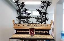 El pas de La Verònica recupera una decoració d'or originària del 1950